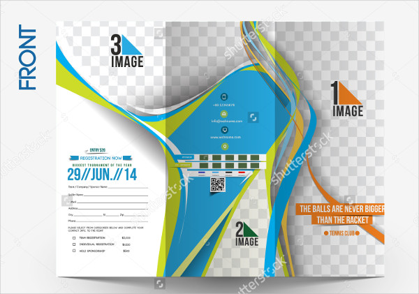 Tennis Competition Tri-Fold Brochure