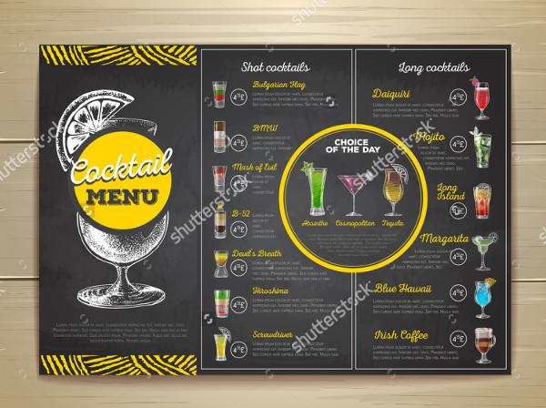 Best Cocktail Menu Template