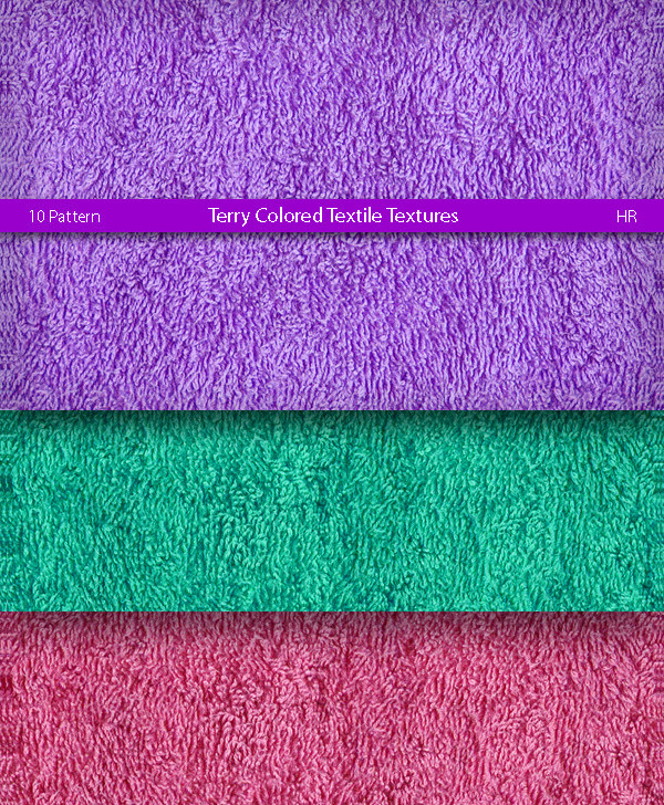 Terry Colored Textile Pattern Pack