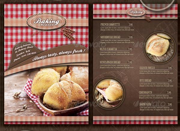 Traditional Bakery Menu Flyer