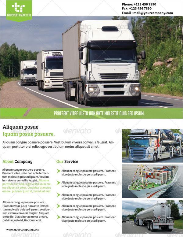 Transport Agency Advertising Flyer