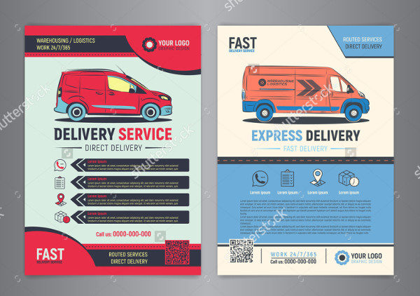 Transport Goods Delivery Flyer Template