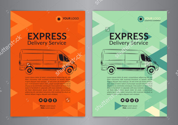 Express Delivery Service Flyer Template