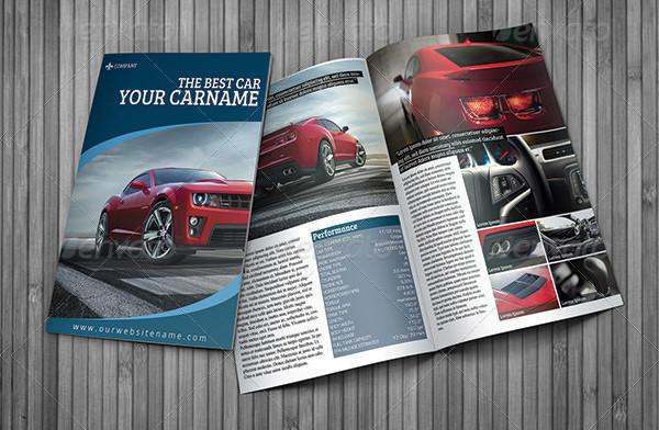 Popular Car Presentation Brochure Template