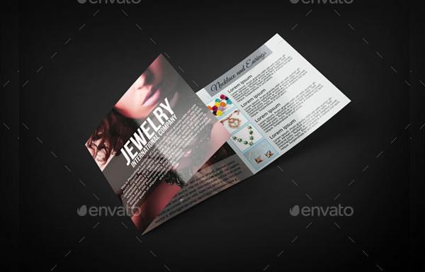 Unique Jewelry Tri-Fold Brochure