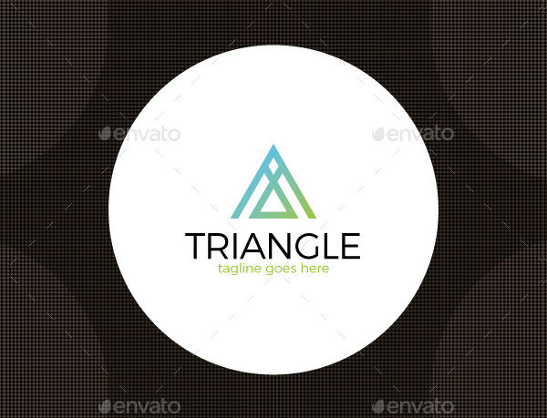 Triangle A Letter Logo Template