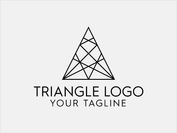 Abstract Triangle PSD Logo Template