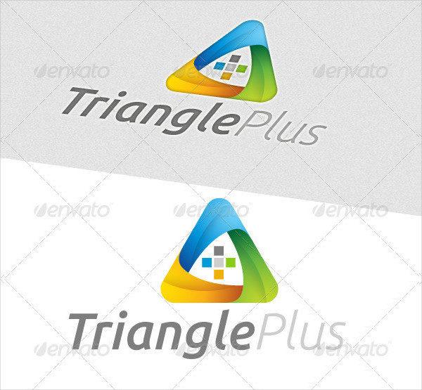 Triangle Plus Logo Template