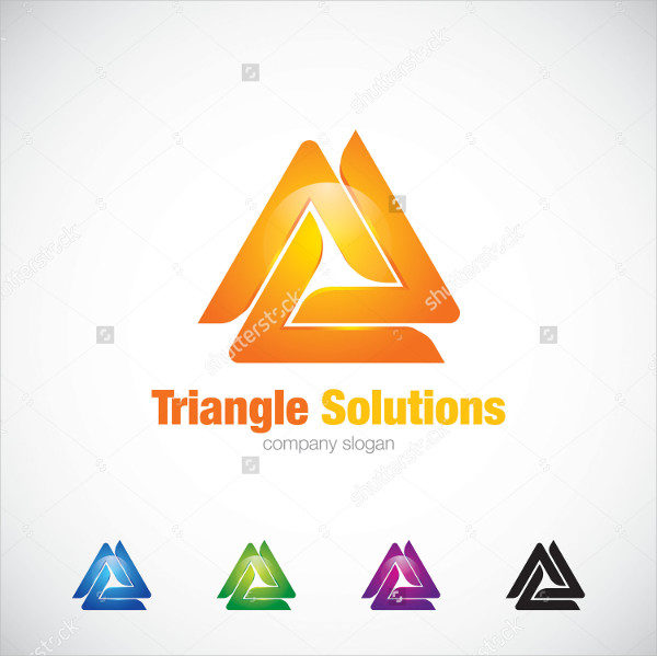 Attractive Triangle Solutions Logo Template