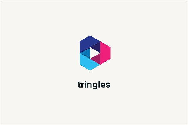 Unique Triangle Logo Template