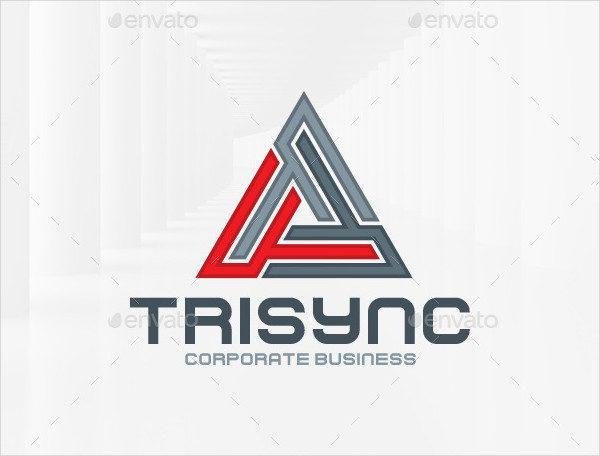 Triangle Corporate Business Logo Template