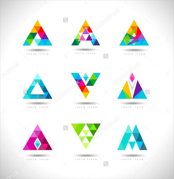 Creative Triangles Design Logo Template