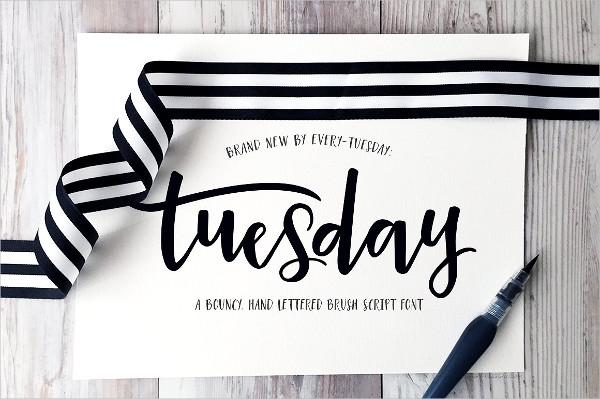 Tuesday Script Font
