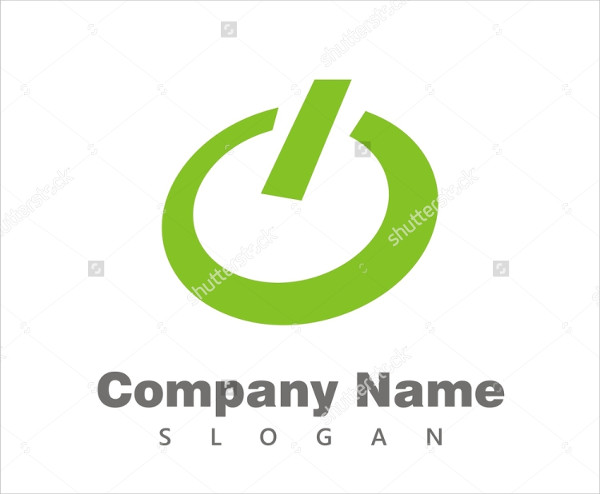 Turn On Computer Vector Logo Template