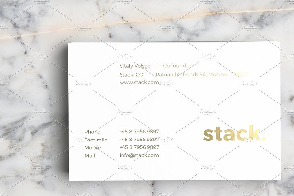 Attractive Classical Business Card
