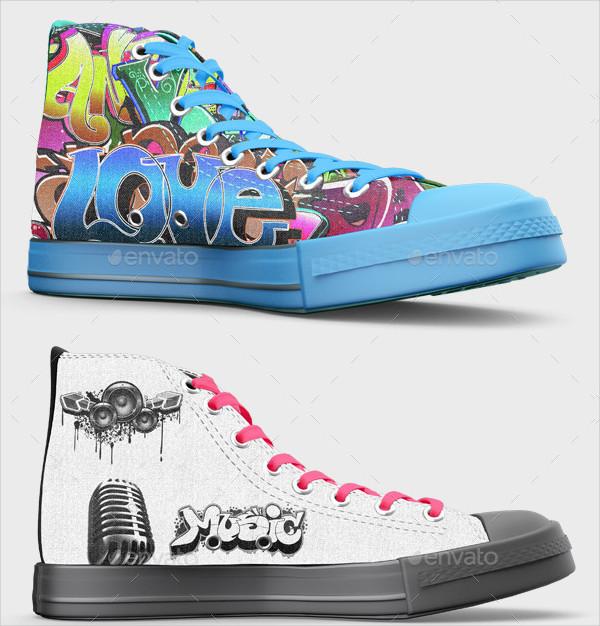 Unique Design Shoes Mock-Up