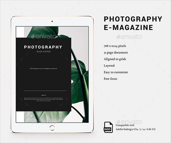 Unique Photography E-Magazine Template