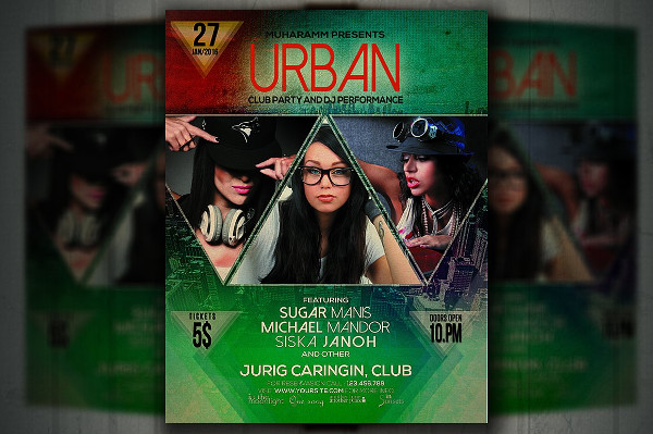 Urban Beat Party Flyer Template