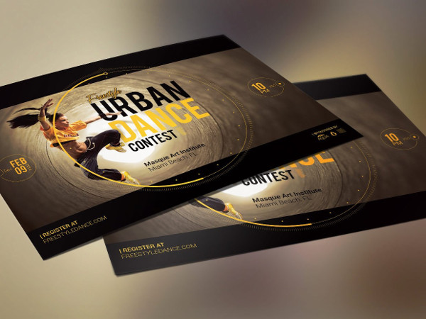 Urban Dance Contest Flyer Template