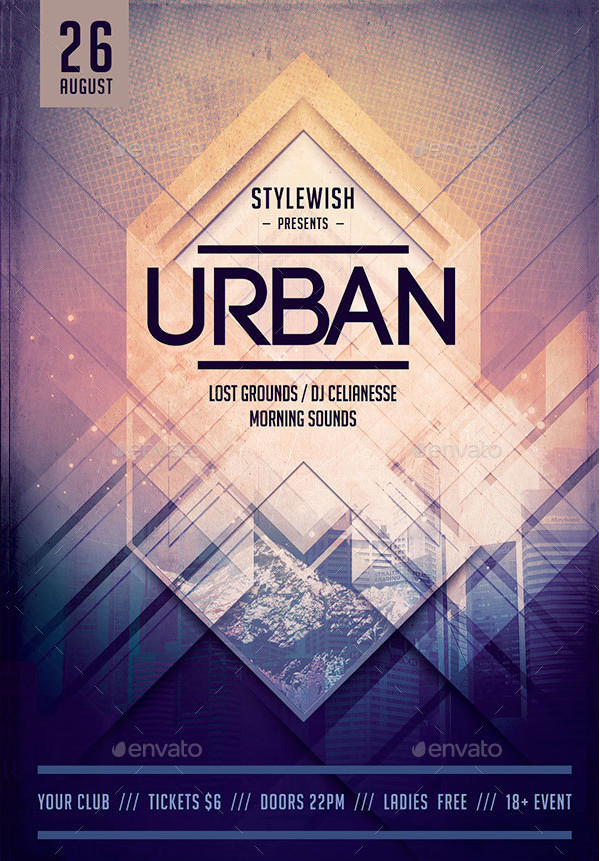 Urban Minimal Design Flyer Template
