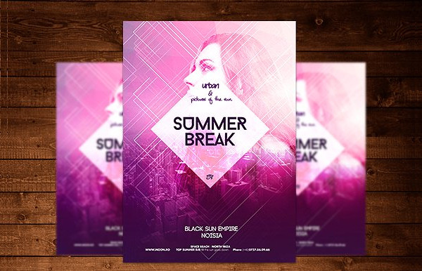 Urban Summer Break Flyer Template