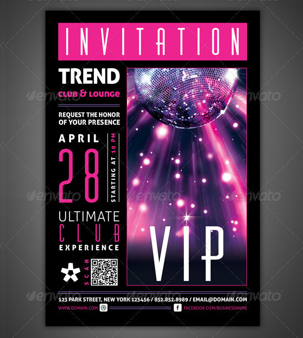 VIP Club Event Invitations