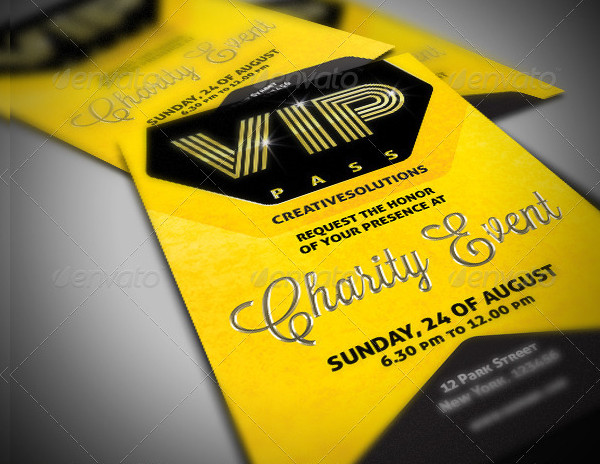 VIP Pass Event Invitation Template