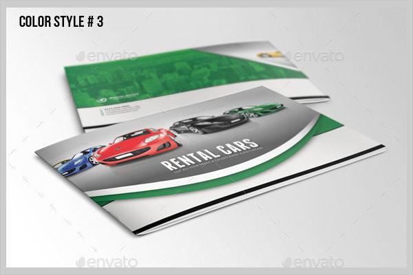 VIP Rental Cars Brochure Template