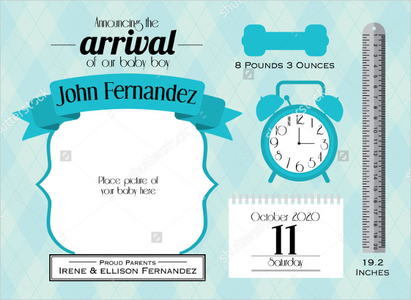 birth announcement template 23 psd ai eps format download