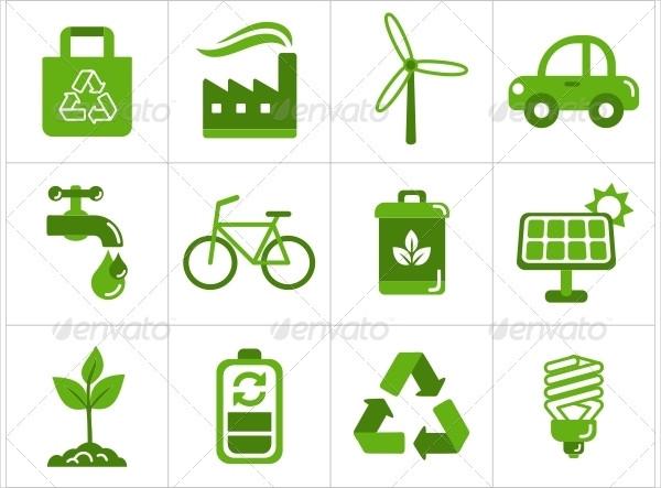 Easy to Edit Eco Icon Set