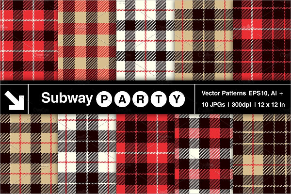 Vector Lumberjack Tartan Patterns
