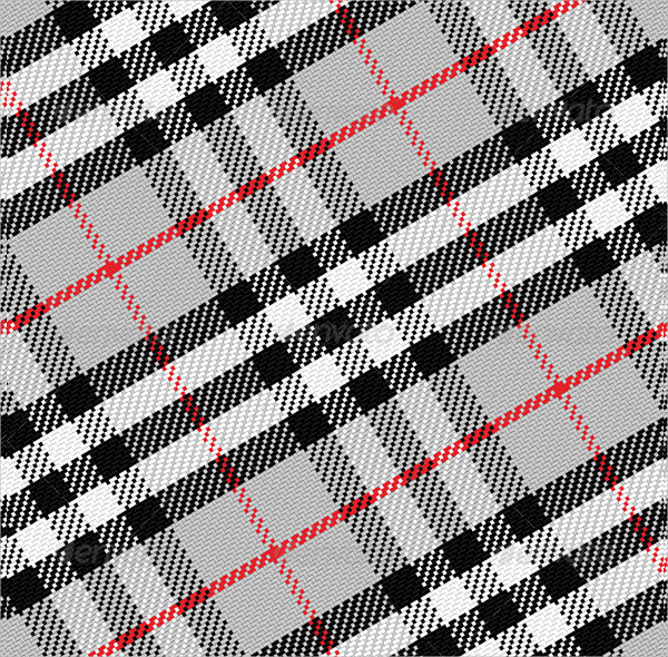 Vector Pattern Scottish Tartan