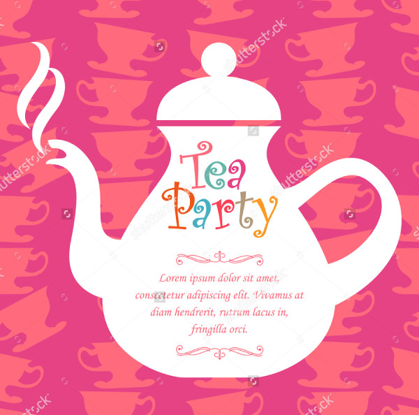 Vector Tea Party Card Design