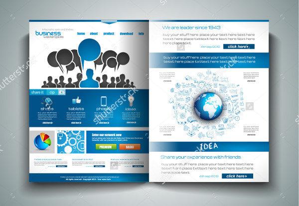Vector Marketing Bi-Fold Brochure Template