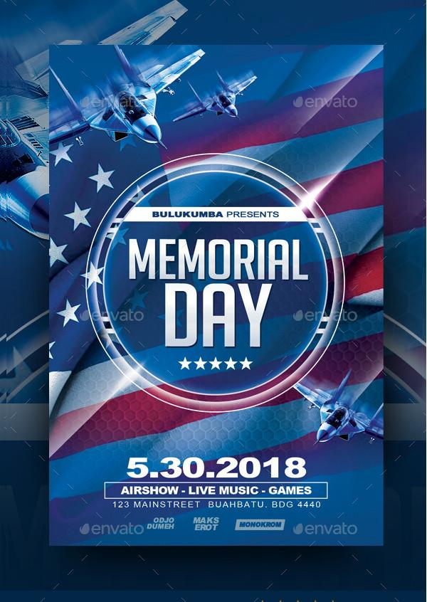 Best Memorial Day Flyer Template