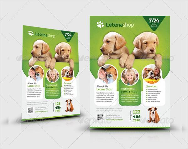 Veterinarians Pet Shop Flyer Templates