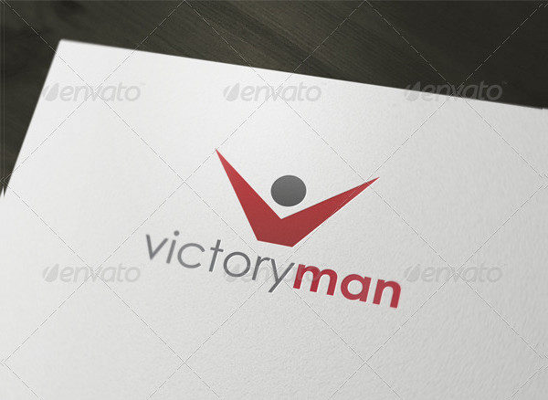 Victory Man Logo Template