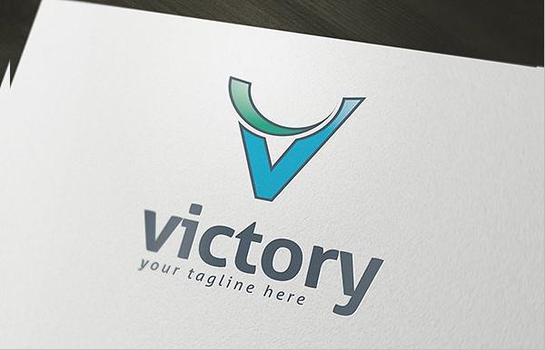 Victory Printable Logo Template