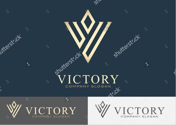Victory Vector Design Logo Template