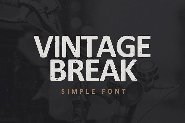 Vintage Break Font