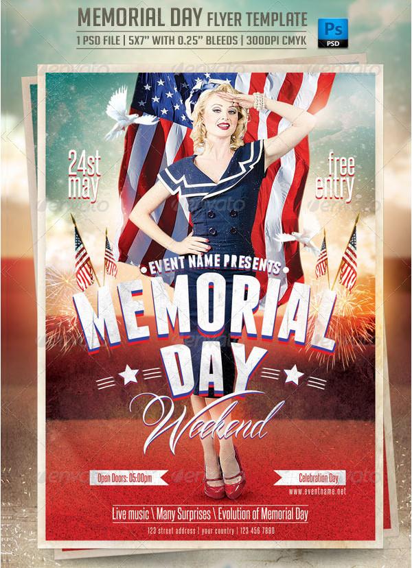 Vintage Memorial Day Advertisement Flyer