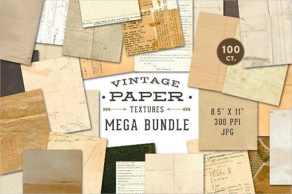 Vintage Paper Textures Mega Bundle