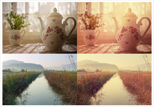 Free Download Vintage Sunny Photoshop Actions