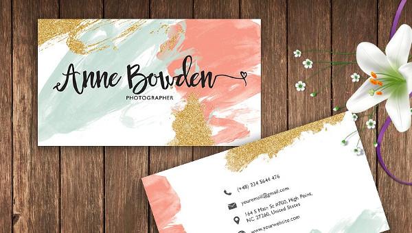 29 Watercolor Business Card Templates Free Premium Download