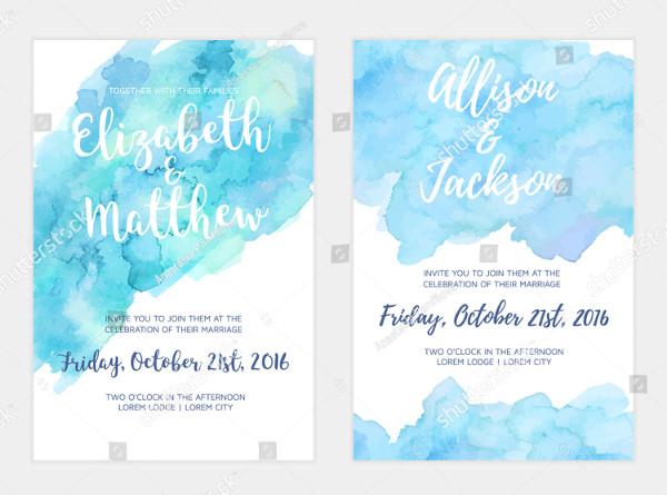 Watercolor Feminine Wedding Invitation Card