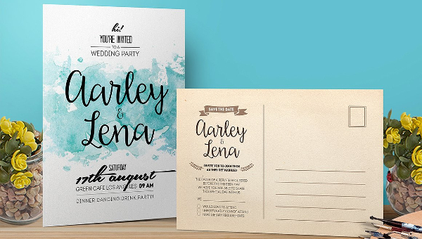 Watercolor Invitation Templates