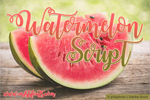Free Download Watermelon Script Demo Font