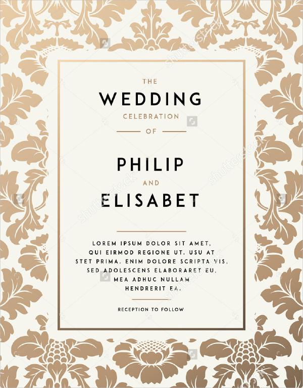 Wedding Invitation Design with Background