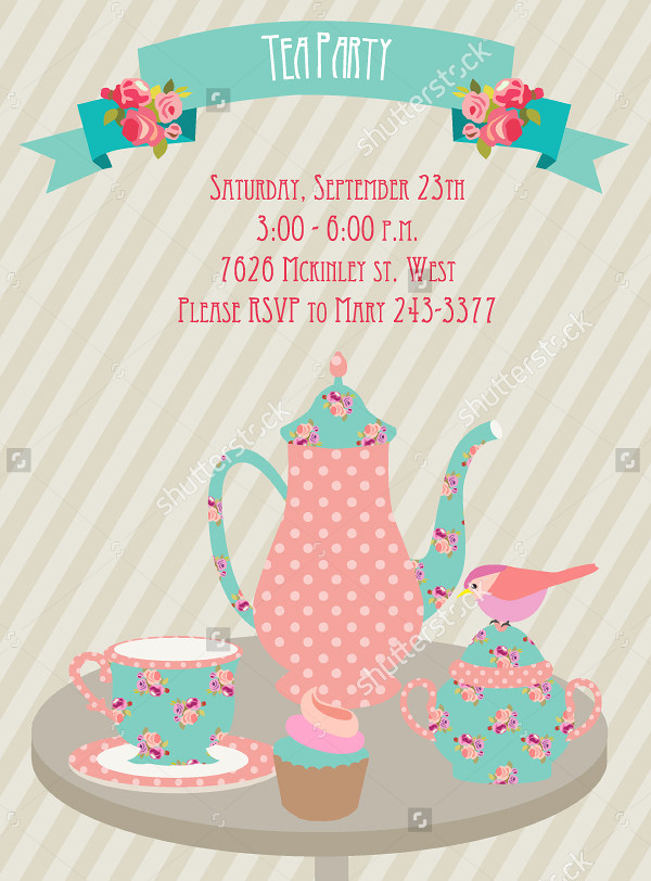 Welcome Tea Party Invitation