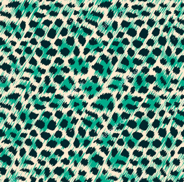 Wild Cat Fur Print Seamless pattern